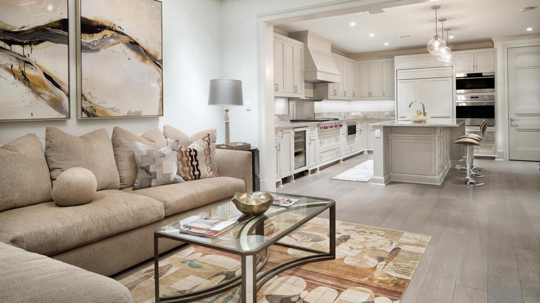 The Austonian Condos Living Room