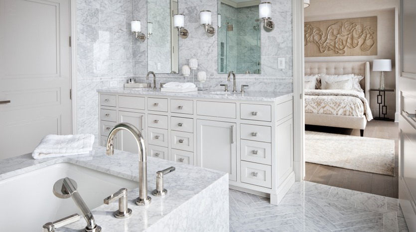 The Austonian Condo Master Bathroom