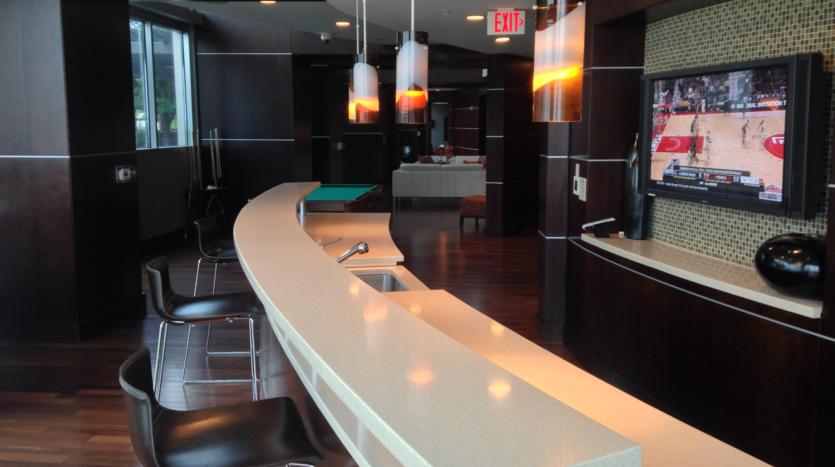 Austin 360 Condos Club Room