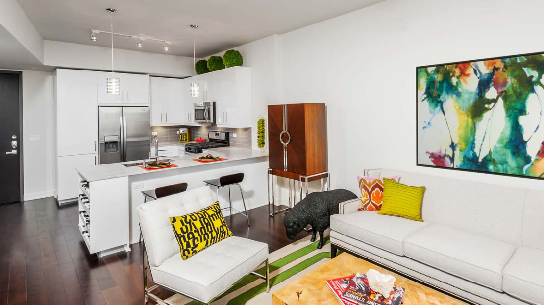 The Bowie Austin Kitchen Living Room